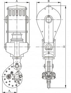 Крюкоблок УТБК-5-225, УТБК-6-320, УТБК-5-320